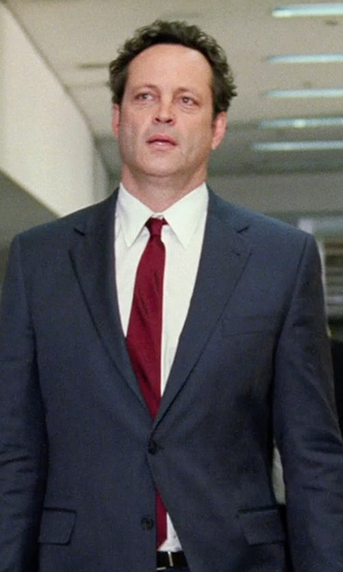 Vince Vaughn with Michael Kors Sapphire Solid Slim Tie in Unfinished Business