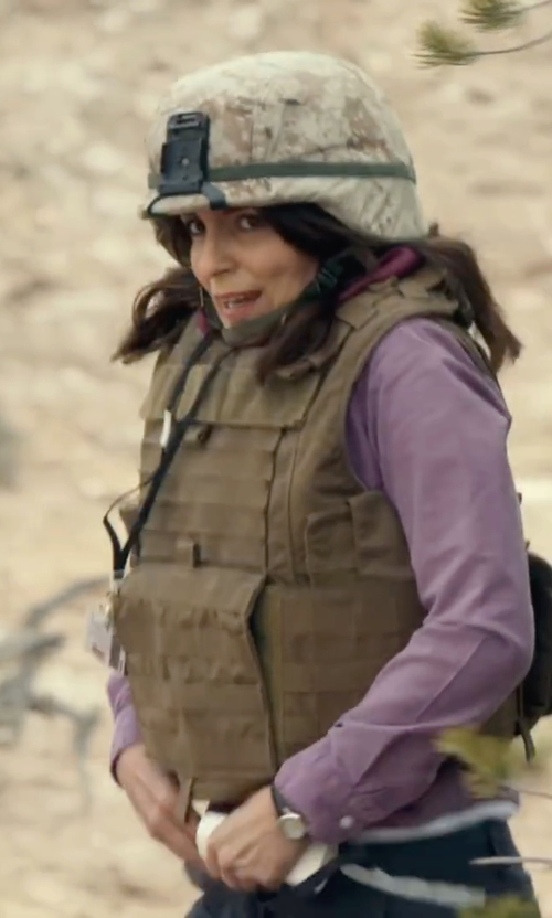 Tina Fey with Johan Eric Herlev Leather Watch in Whiskey Tango Foxtrot