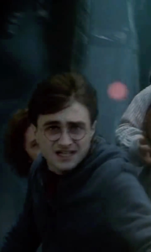 Daniel Radcliffe with Michael Kors Terry Zip-Front Hoodie Jacket in Harry Potter and the Deathly Hallows: Part 2