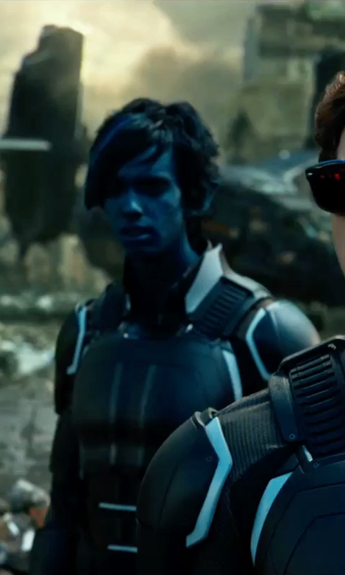 Kodi Smit-McPhee with Louise Mingenbach (Costume Designer) Custom Made Nightcrawler Suit in X-Men: Apocalypse
