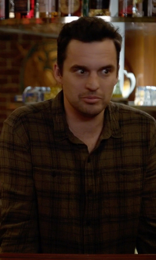 Jake Johnson with Ezekiel 'Mooch' Plaid Woven Shirt in New Girl