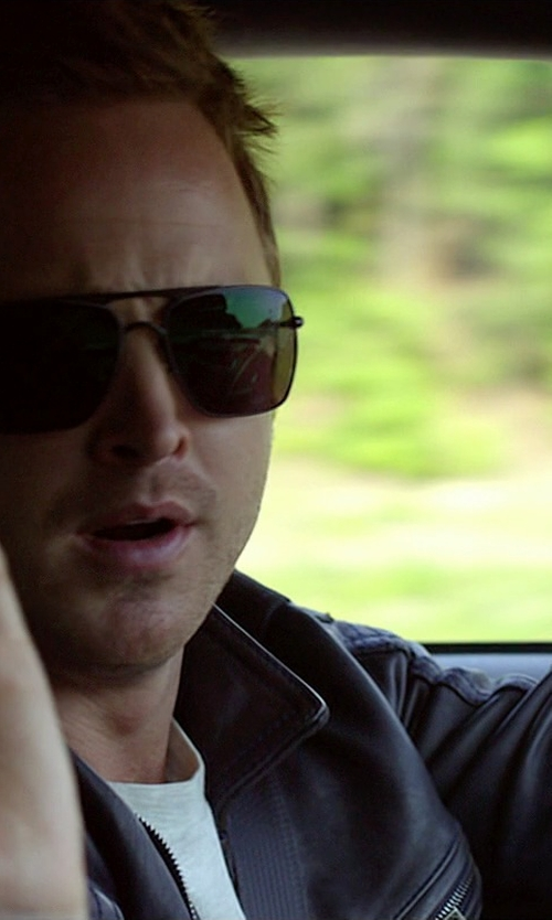 Aaron Paul with Oakley Deviation OO4061 Square Sunglasses in Need for Speed