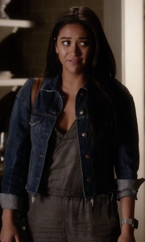 Shay Mitchell with Velvet Heart Athena Jumpsuit in Pretty Little Liars