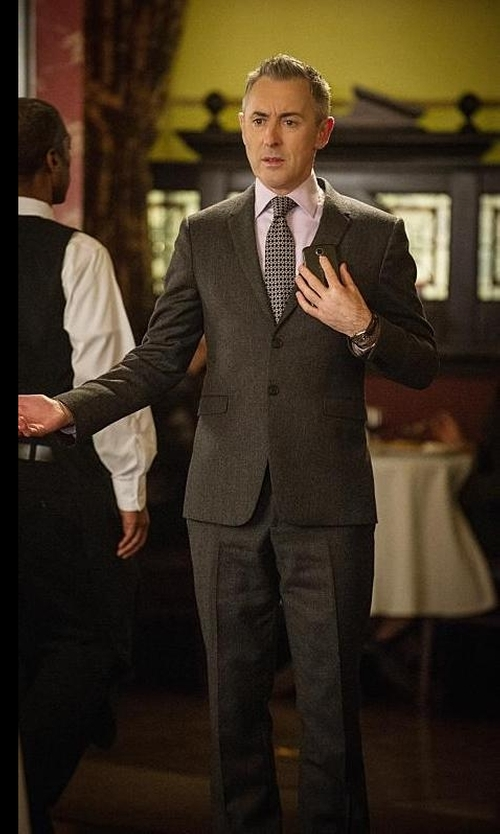 Alan Cumming with Ted Baker London Hexagon Silk Tie in The Good Wife