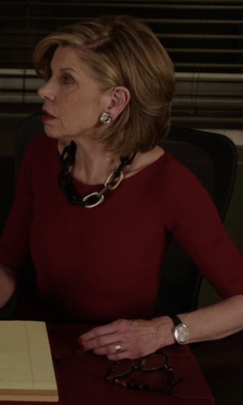 Christine Baranski with Shinola Runwell Watch in The Good Fight