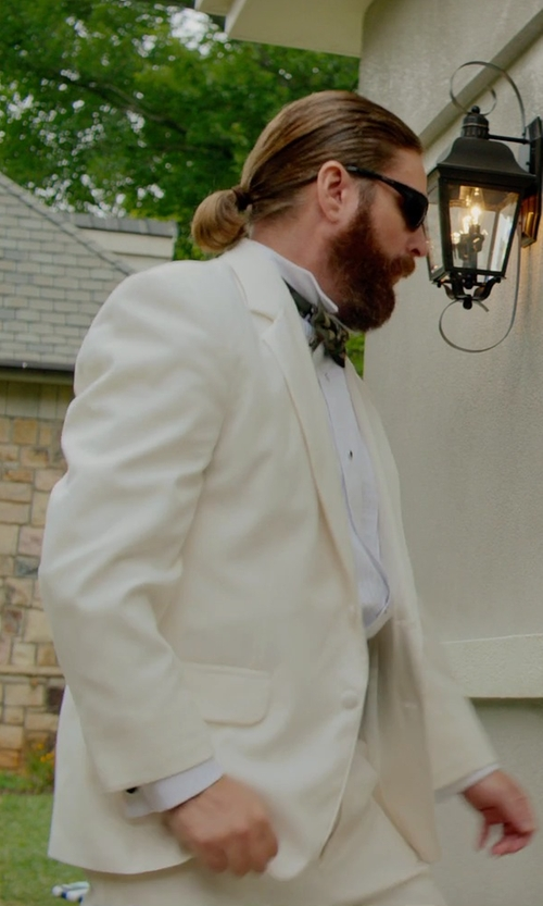 Zach Galifianakis with Thomas Mason Ludlow Tuxedo Shirt in Masterminds