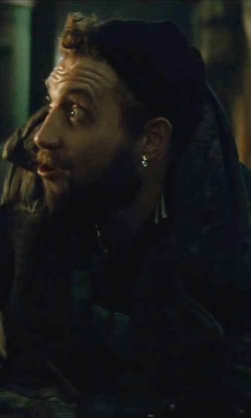 Jai Courtney with Bijou Omega Back Post Earrings in Suicide Squad