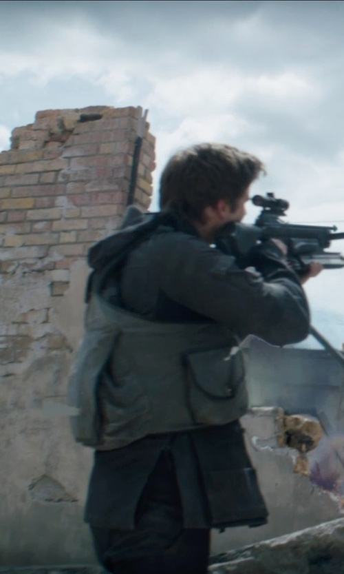 Liam Hemsworth with Rothco Uncle Milty Travel Vest in The Hunger Games: Mockingjay Part 1