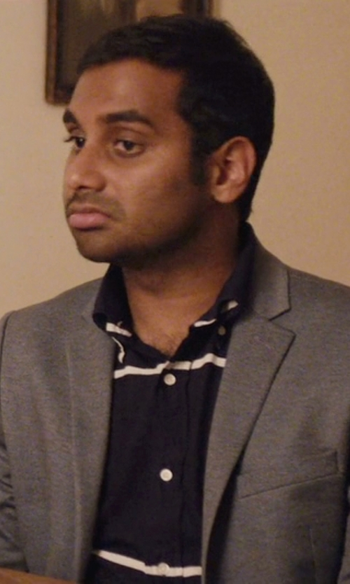 Aziz Ansari with H&M Slim Fit Blazer in Master of None