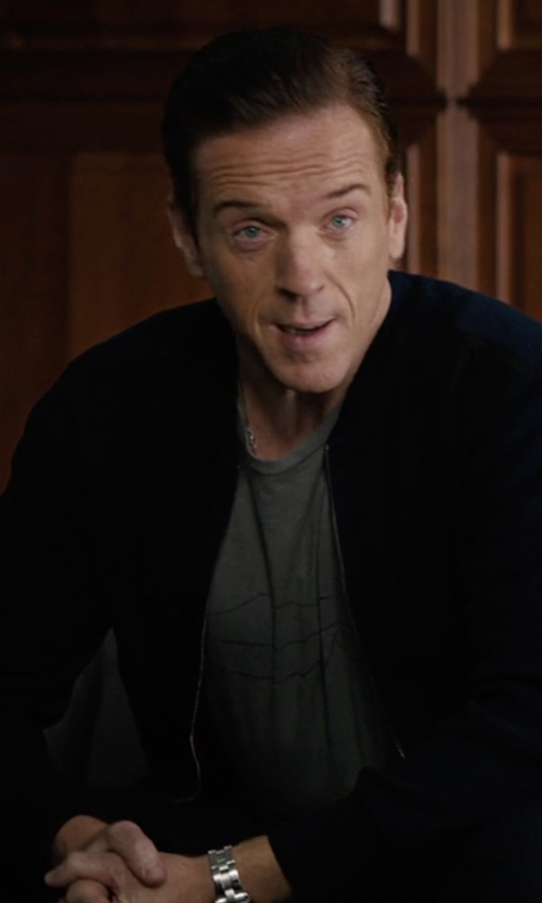 Damian Lewis with Victorinox Swiss Army Front Zip Cardigan in Billions