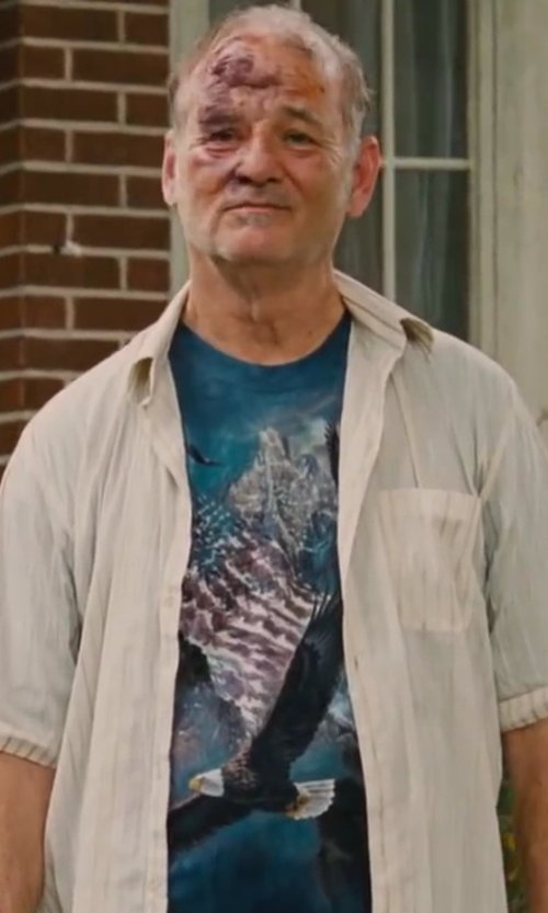 Bill Murray with The Mountain Reflections Of Freedom T-shirt in St. Vincent