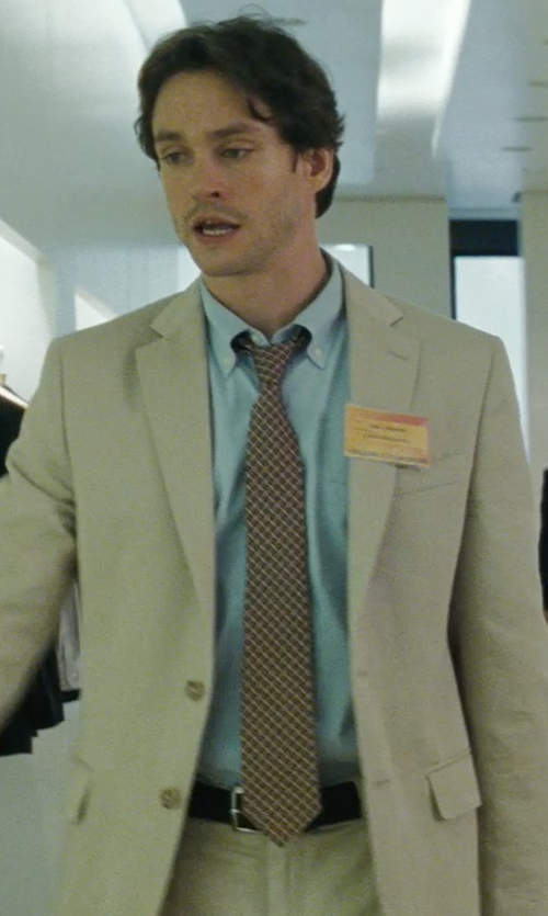 Hugh Dancy with Michael Kors 'Checkmate' Silk Tie in Confessions of a Shopaholic