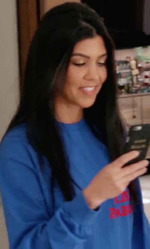 Kourtney Kardashian with Kanye West I Feel Like Pablo Sweater in Keeping Up With The Kardashians