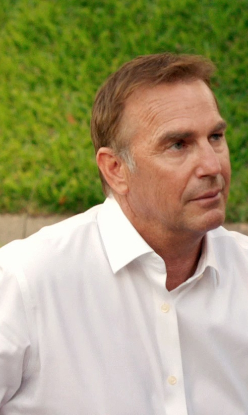 Kevin Costner with Brooks Brothers Milano Fit Button-Down Collar Dress Shirt in Black or White