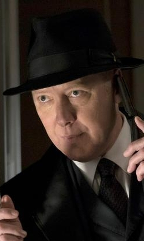 James Spader with Brioni Jacquard Printed Silk Tie in The Blacklist