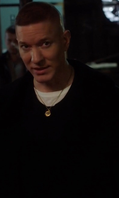 Joseph Sikora with Theory Belvin Single-Breasted Coat in Power