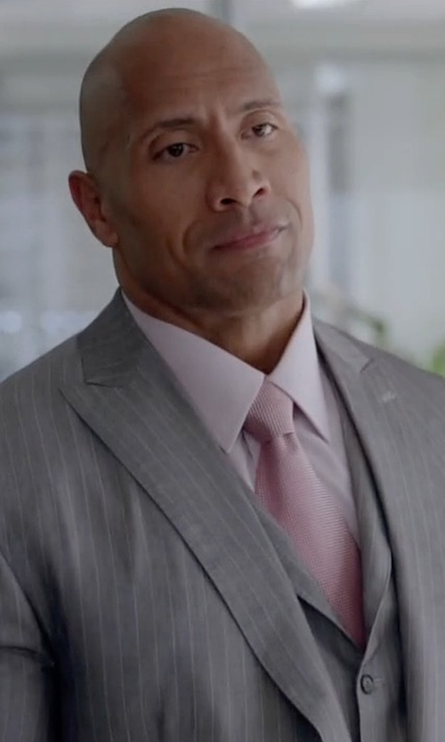 Dwayne Johnson with Tommy Hilfiger Core Oxford Solid Tie in Ballers