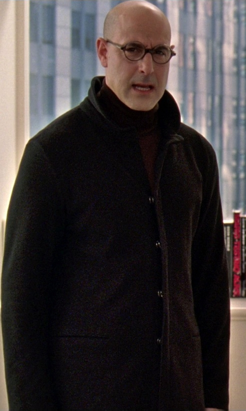 Stanley Tucci with Z Zegna Single Breasted Coat in The Devil Wears Prada