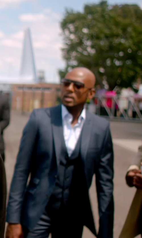 Romany Malco with Paul Smith 'Haden' Aviator Sunglasses in Top Five