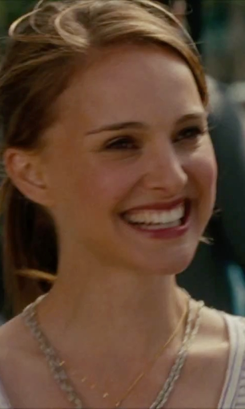 Natalie Portman with Anne Klein Pavé Long Layering Necklace in No Strings Attached