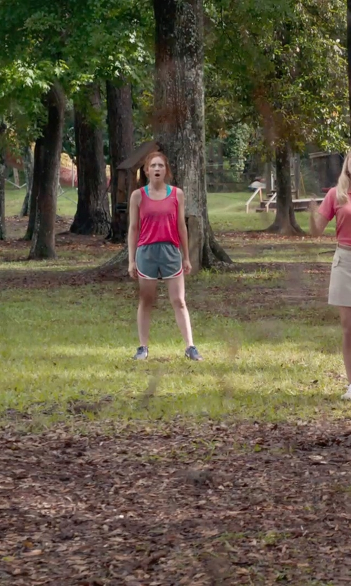 Brittany Snow with Nike Printed Tempo Ladies Shorts in Pitch Perfect 2