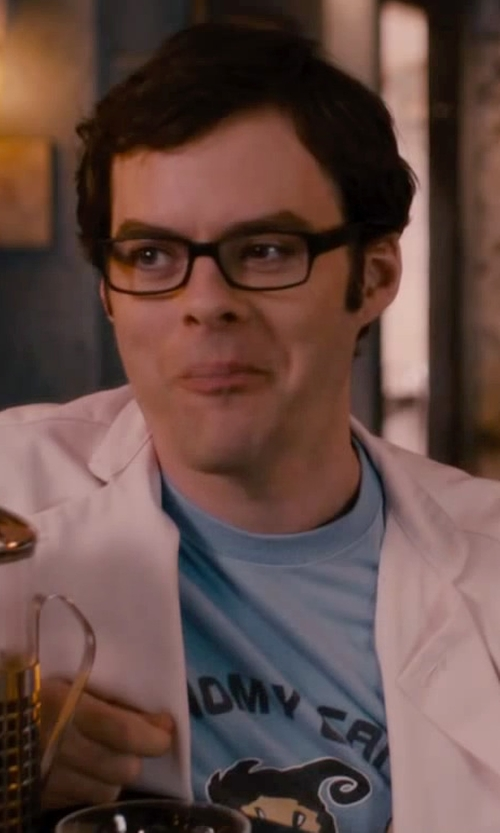 Bill Hader with Nerd Man Graphic T-Shirt in The Disappearance of Eleanor Rigby