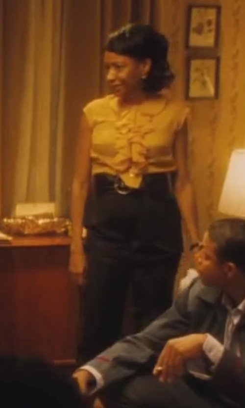 Adriane Lenox with The Row High-Waisted Wool Trousers in Lee Daniels' The Butler