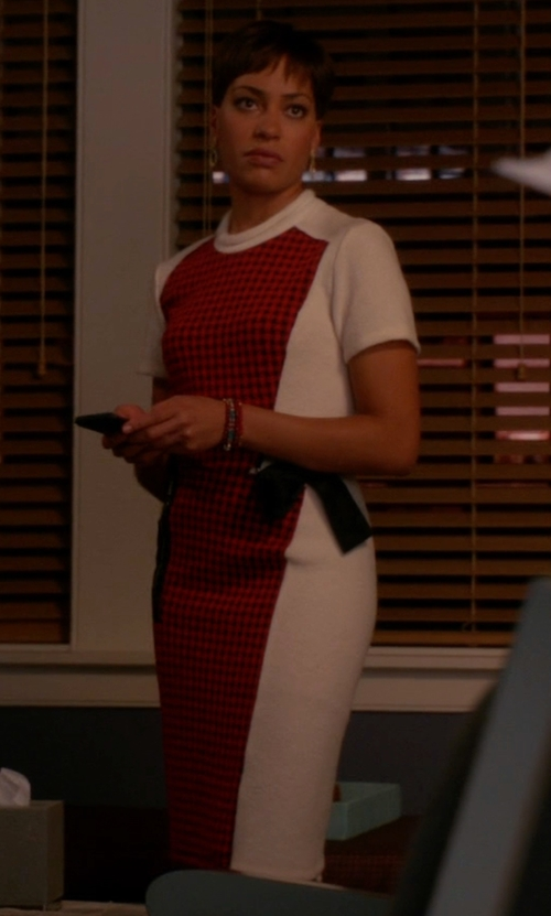 Cush Jumbo with 3.1 Phillip Lim Checked Patchwork Dress in The Good Wife