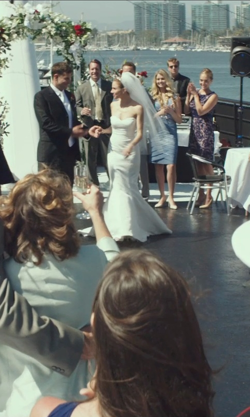 Sienna Miller with J. Mendel Blanche Strapless Mermaid Gown in American Sniper