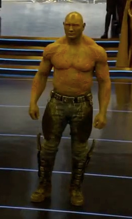 Dave Bautista with G-Star Rovic Zip 3D Tapered Cuffed Pants in Guardians of the Galaxy Vol. 2