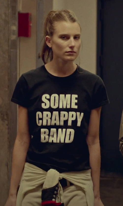 Gabriella Campagna with Skreened Some Crappy Band T-Shirt in While We're Young