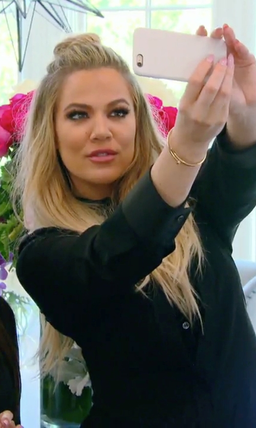 Khloe Kardashian with Splendid Rayon Voile Button Down Shirt in Keeping Up With The Kardashians