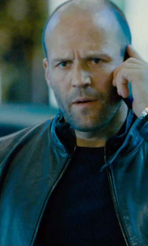 Jason Statham with Soul Revolver Cafe Racer Vintage Leather Jacket in Furious 7