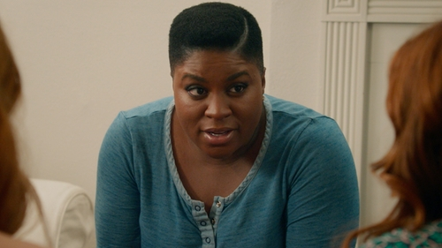 Ester Dean with Splendid Snap Down Round Neck Shirt in Pitch Perfect 2