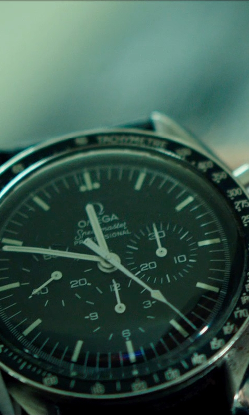Ed Skrein with Omega Speedmaster Moonwatch Professional Watch in The Transporter: Refueled