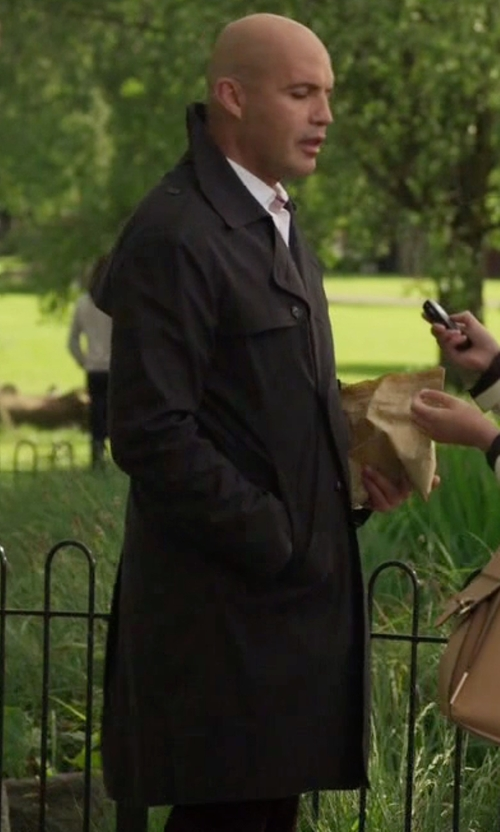 Billy Zane with Burberry London The Wiltshire Long Heritage Trench Coat in Guilt