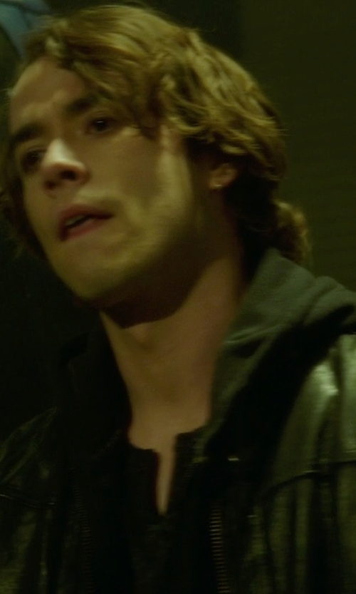 Jamie Blackley with Cotton Citizen Zip Hoodie in If I Stay