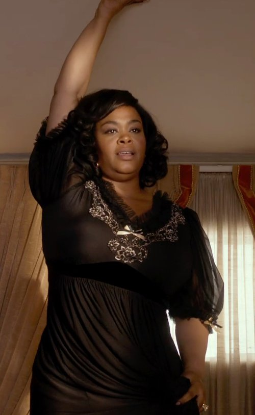 Jill Scott with J Kara Embellished Kimono Sleeve Cocktail Dress in Get On Up