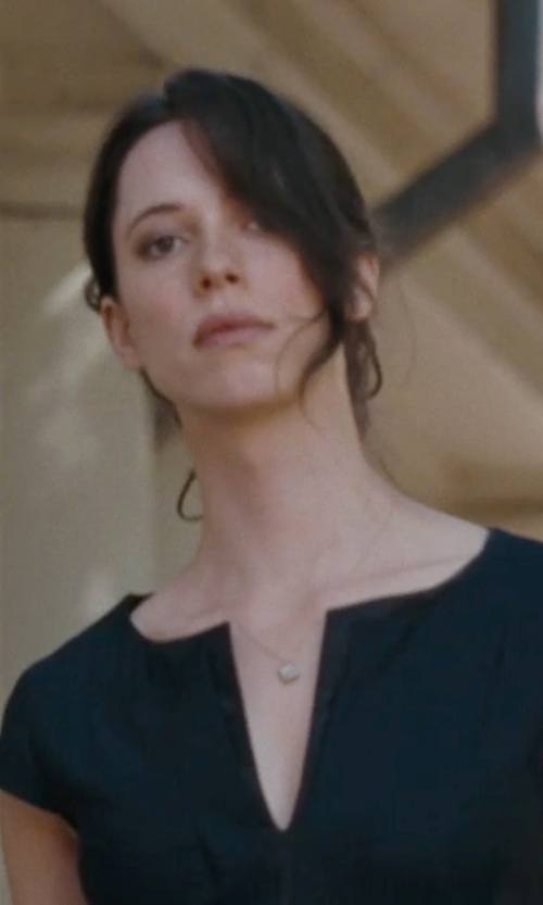 Rebecca Hall with Light In The Box V Neck Slim Dress in The Town