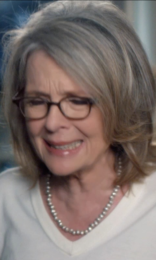 Diane Keaton with Pendleton Seashell Pearl Necklace in And So It Goes