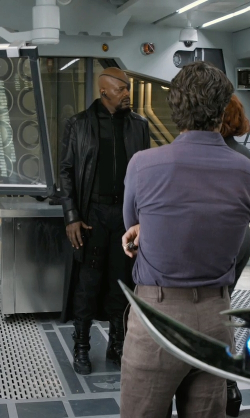 Samuel L. Jackson with Alexandra Byrne (Costume Designer) Custom Made 'Nick Fury' Belt in Marvel's The Avengers