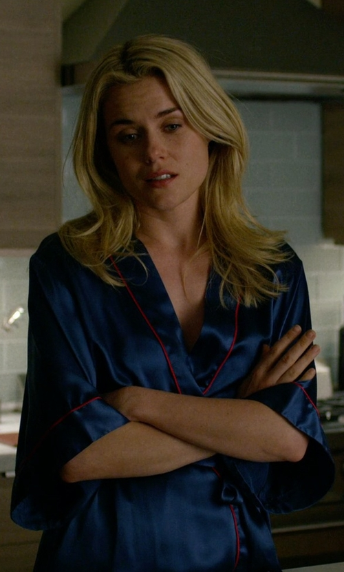 Rachael Taylor with La Perla Silk Robe in Jessica Jones
