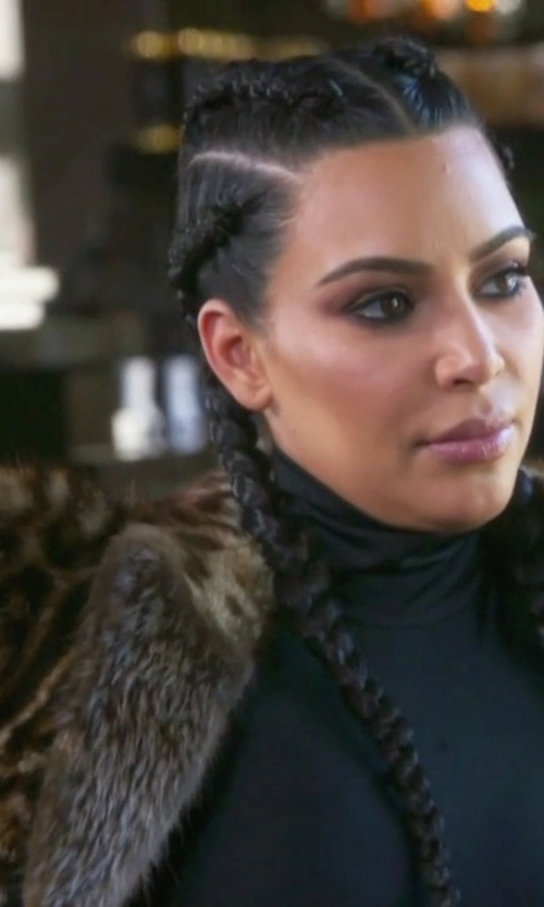 Kim Kardashian West with Givenchy Multicolor Leopard Print Fur Coat in Keeping Up With The Kardashians