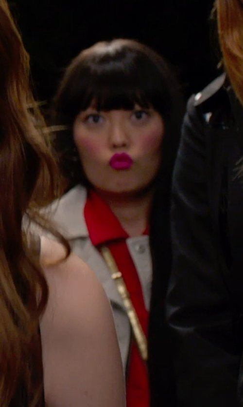 Hana Mae Lee with Jean Paul Gaultier Vintage Sleeveless Denim Jacket in Pitch Perfect 2