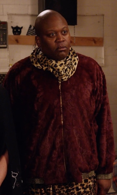 Tituss Burgess with Kenneth Cole New York Suede Bomber Jacket in Unbreakable Kimmy Schmidt