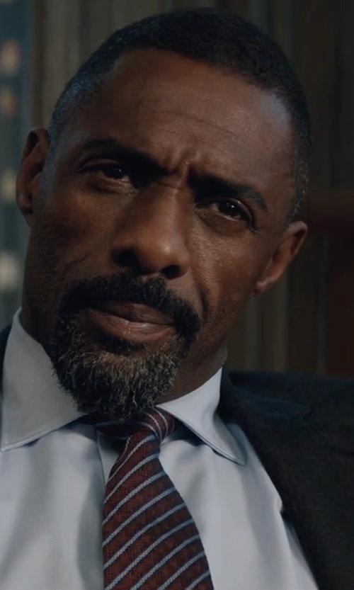 Idris Elba with Emporio Armani Trim Fit Plaid Wool Suit in Molly's Game