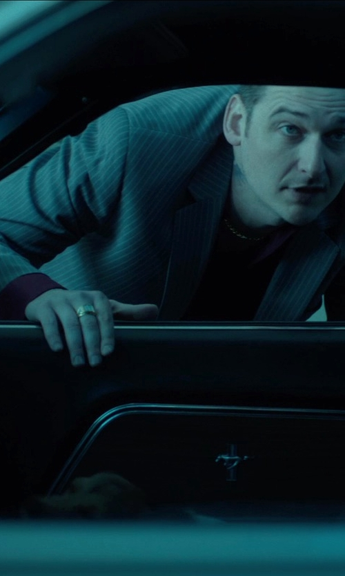 Toby Leonard Moore with Topman Grey Skinny Fit Suit Jacket in John Wick