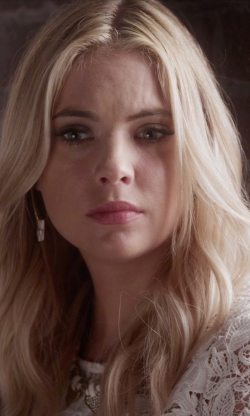 Ashley Benson with Natacha Nay Triple Triangle Earrings in Pretty Little Liars