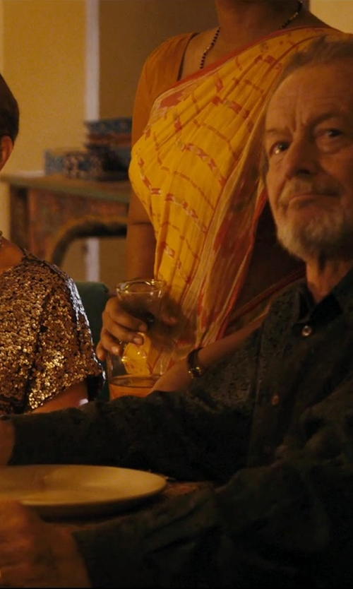 Ronald Pickup with Midwest Jewellery & Apparel Fashion Cluster Ring in The Second Best Exotic Marigold Hotel