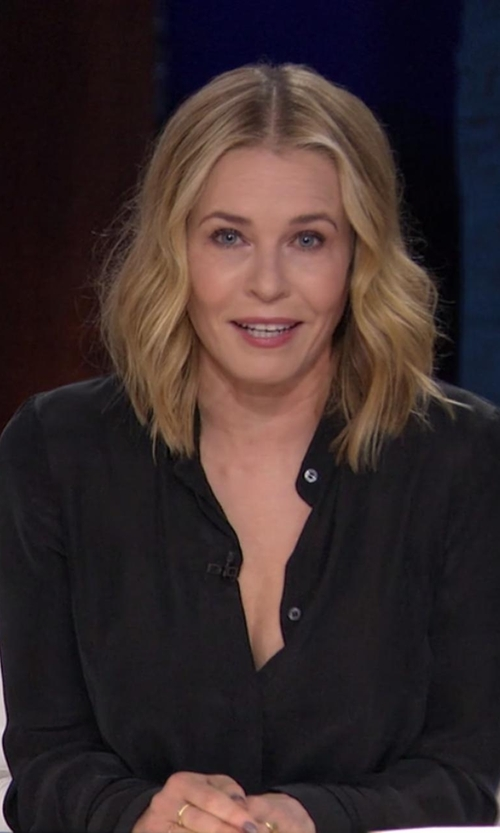 Chelsea Handler with NYDJ Georgette Blouse in Chelsea